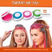 Hair Chalk - 4 Colors A Set: Brown Pink Blue  Green/ Temporary DIY Hair DYE/ Colour Soft Pastels Salon KIT