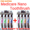1+1 Medicare Gold Charcoal Nano Toothbrush 4P / Nano Anti-Bacteria Coating / Charcoal / Dual Bristles Action / Watch Video Inside / Fast Delivery / Free shipping / Haze