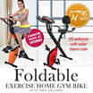 Bicycle Exercise Gym bike Bicycle Heartrate (foldable) free delivery free setup!