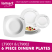 LAMART LT9001 AND LT9002 6 Piece Dinner Plate Sets