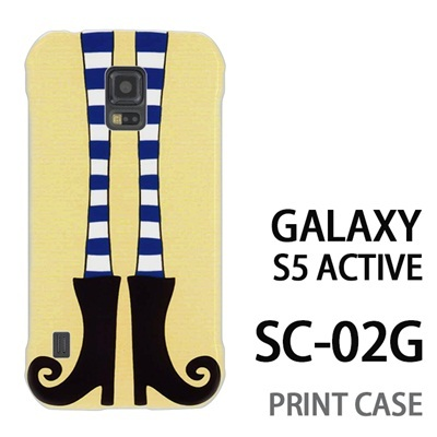 GALAXY S5 Active SC-02G 用『1000 細足ブーツ 黄』特殊印刷ケース【 galaxy s5 active SC-02G sc02g SC02G galaxys5 ギャラクシー ギャラクシーs5 アクティブ docomo ケース プリント カバー スマホケース スマホカバー】の画像