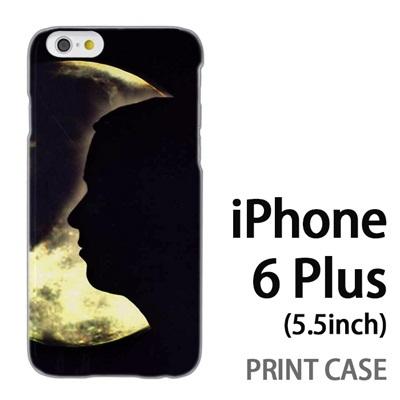 iPhone6 Plus (5.5インチ) 用『No4 月と女』特殊印刷ケース【 iphone6 plus iphone アイフォン アイフォン6 プラス au docomo softbank Apple ケース プリント カバー スマホケース スマホカバー 】の画像