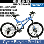 {CYCLE BICYCLE}(MORGAN MOUNTAIN BIKE) FULL SUSPENSION WITH SHIMANO /Road Bike/Foldable Bike/Fixie/Single Speed}XDS/Shimano Sex/Fitness/Healthy/bicycle/100% Assembled SINGAPORE SELLER