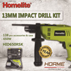 [HOMELITE] 13MM IMPACT DRILL KIT W/138pcs ACCESSORIES  CASE 650W HID650RSK