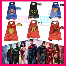 ★CHEAPEST★Kids Halloween Costumes★Superheroes★Birthday Party Favours★Robe Cape Mask★