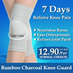 Premium Quality Bamboo Charcoal Knee Guard All Day Knee Support / Breathable / Elastic /Compression/