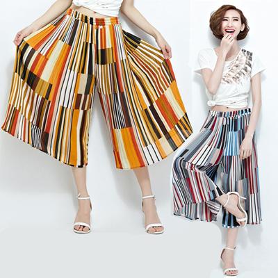 N414 高品質! 2colors/フレアガウチョパンツ 春夏ファッション 韓国ファッション レディース スカート/ボトムス/パンツ ロングパンツ/サルエル・カーゴパンツ/クロップド・カプリパンツ リゾ