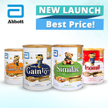 Similac Gain IQ Kid S4/S3   Isomil S2/S3 Soy Follow On   Similac S2 Intelli Pro (850g and 1.6kg)