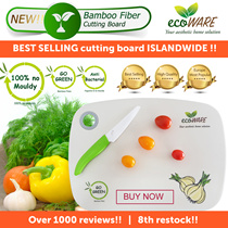ecoWARE 10th RESTOCK [BEST SELLING CUTTING BOARD] Bamboo Fiber Chopping Board | Anti-bacterial | light weight | dish-washer Safe | Hygiene | Kitchen | Dishware | ichef | Kids | Storage |