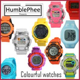 *FREE CASING* Cheap Colourful Sport Watch Men Women Kids Unisex Gift Present SG Seller