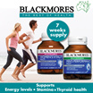 [LIMITED TO 99QTY!] BLACKMORES MENS PERFORMANCE MULTI EXP 21/03/18 /WOMENS VITALITY MULTI 50s EXP 17/10/17 - Support Energy Levels/Stamina/Thyroid Function
