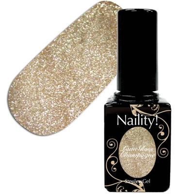 Naility!ステップレスジェル027ラメグロスシャンパン7g【YWZS/ソークオフ/カラージェル/ポリッシュタイプ/uvled対応/国産/ジェルネイル/ネイル用品】