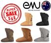 大人気のエミュー羊革100%のオリジナルムートンブーツ★後ろボタンが可愛いアルバーシリーズ(EMU)ALBA-100%SHEEP SKINREMOVE INSOLE + EMU CARE KIT 無料ギフト