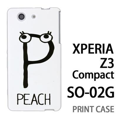 XPERIA Z3 Compact SO-02G 用『0623 「P」』特殊印刷ケース【 xperia z3 compact so-02g so02g SO02G xperiaz3 エクスペリア エクスペリアz3 コンパクト docomo ケース プリント カバー スマホケース スマホカバー】の画像