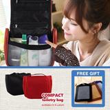 Tas Toiletries : Compact Toiletry Bag. FREE GIFT : Luggage Tag..  Kebutuhan Travel esensial yang harus dibawa