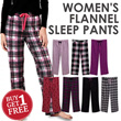 [Buy1Get1] Branded Ladies Flannel Sleep Pants_100% Cotton Pajama Pants 7 Motif Comfortable Material_Celana tidur wanita sleep wear
