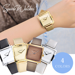 【送料無料】 腕時計 石英腕時計 スクエア 四角 時計 可愛い レディース おしゃれ 簡約 上品 耐水 ウォッチ かわいい 激安 ホワイト ブラック イエロー #810e#