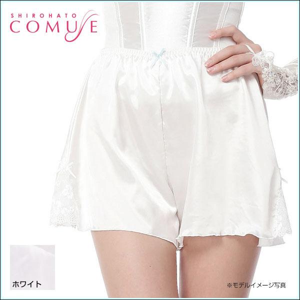 Qoo10【COMUSE】ウェディング☆サテンきらきらブライダルフレアパンツ S M L LL 3L(33SH0918)