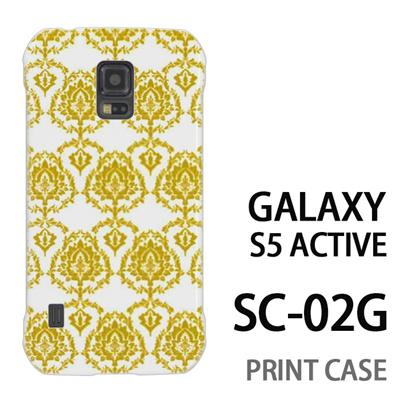 GALAXY S5 Active SC-02G 用『1001 葉紋様 黄』特殊印刷ケース【 galaxy s5 active SC-02G sc02g SC02G galaxys5 ギャラクシー ギャラクシーs5 アクティブ docomo ケース プリント カバー スマホケース スマホカバー】の画像