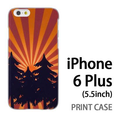 iPhone6 Plus (5.5インチ) 用『No4 日光林』特殊印刷ケース【 iphone6 plus iphone アイフォン アイフォン6 プラス au docomo softbank Apple ケース プリント カバー スマホケース スマホカバー 】の画像