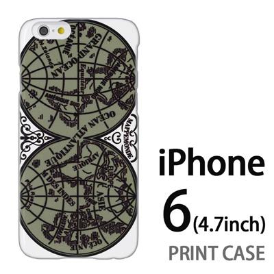 iPhone6 (4.7インチ) 用『0707 世界マップ 緑』特殊印刷ケース【 iphone6 iphone アイフォン アイフォン6 au docomo softbank Apple ケース プリント カバー スマホケース スマホカバー 】の画像