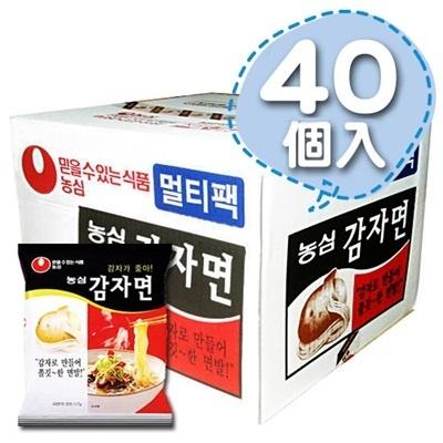 八道韓国食品がお届けする、本場の韓国食品・韓国食材!! ■韓国のジャガイモラーメン(辛さ0)1Box40個■【韓国食品・韓国食材】の画像