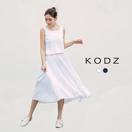 KODZ - 2-Piece Pleated Dress-171946