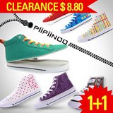 [Piipiinoo]zipper shoes-Fashion canvas shoes/sneakers/new type shoes/triner/high/custom/