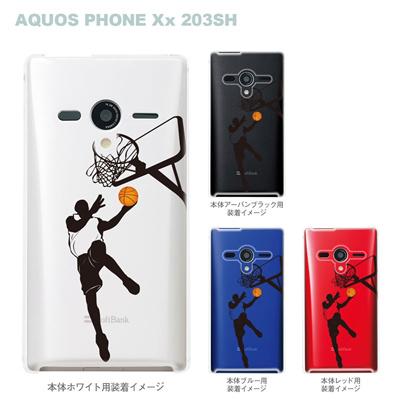 【AQUOS PHONEケース】【203SH】【Soft Bank】【カバー】【スマホケース】【クリアケース】【クリアーアーツ】【バスケットボール・レイアップ】 08-203sh-ca0111の画像