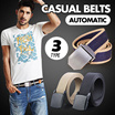 [Crazy Price] ★SALE★Leather belt/ Men Automatic Buckle Genuine Belt/Men Belt / Casual Belts / Business Black Belts /Cowhide Leather Waist Strap