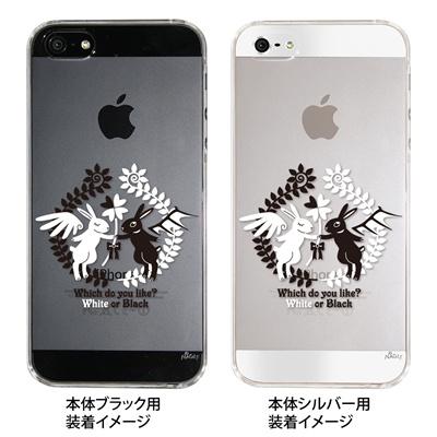 【iPhone5S】【iPhone5】【NAGI】【iPhone5ケース】【カバー】【スマホケース】【クリアケース】【アニマル】【天使と悪魔】 ip5-24-ng0013の画像