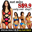 [Sexy]Special Deal! 2015 Hot Women Sexy Bikini colleciton Bandage/color block style/Patchwork Swimsuits Candy colors Bra Lady Beach Dress ★Hot Swimwear ★Sexy bikini