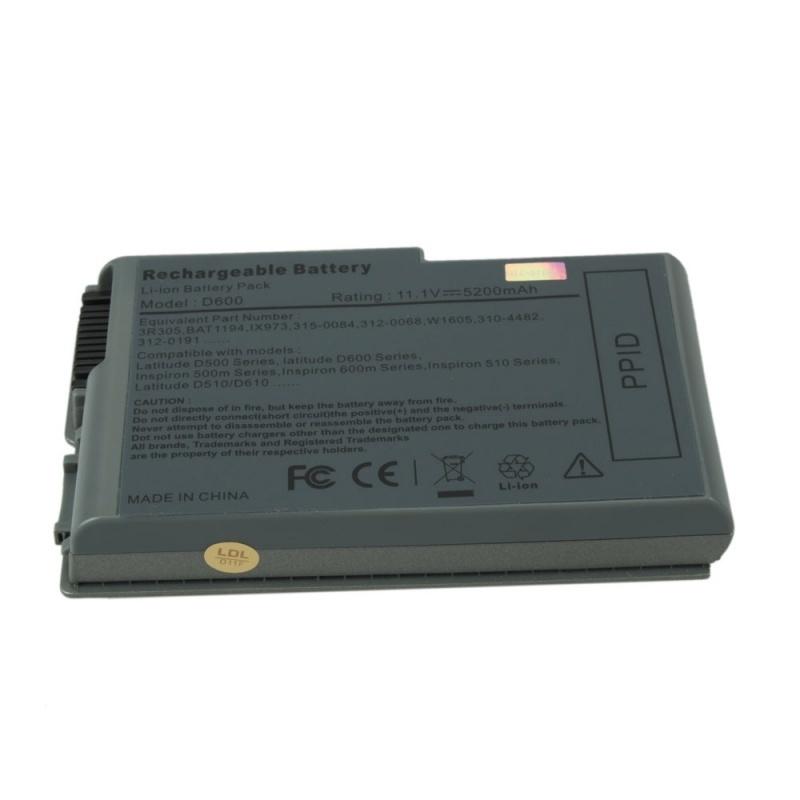 【クリックで詳細表示】5200mAh Laptop Battery for Dell D510 D600 600M 7W999 Y1338 4P094 N9406