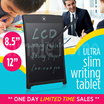 8.5 /12/ 55 inch Writing Drawing Sketch Pad Tablet ▲ /Easy communication for business kids home school classroom / Memo blackboard ewriter