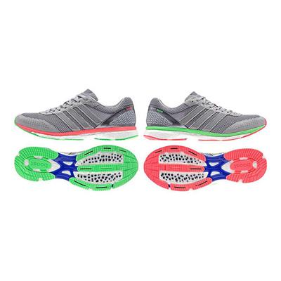 アディダス (adidas) adizero Japan boost 2(ミッドグレー×フラッシュレッド×フラッシュグリーン) B26586 [分類:陸上競技 ランニングシューズ] 送料無料の画像