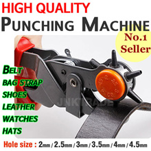 6-in-1 Professional Hole Punch Tool - Belt Hole Puncher / Quality Revolving 6 Hole Leather /  bags