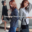 [Mayblue] ★ 13type top and dress★ Free Shipping nonchalant elegant fabric with a lame sense ★ Dolman sleeve boat-neck knit tops