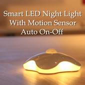 [BUY 4 GET 1 FREE] Smart LED Night Light Motion Sensor / Clover Oval Design / Smart Home / Auto On Off Sensor / Good for Oldery Baby Kid Nihgt Wake Up / Living Room Car Park