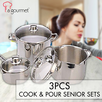 Qoo10 la gourment cook n pour 3pcs set senior sets for Qoo10 kitchen set