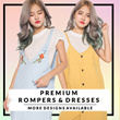 15 Aug update ★PREMIUM ROMPER COLLECTION ★BUY 2 FREE QXPRESS Womenswear/Romper/Dress/Casual/Korean