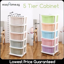 5 Tier Cabinet - Plastic Storage Box Drawer Organizer Container