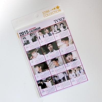 TVXQ 東方神起 2015 カレンダー ミニ シール / チャンミン MAX ユンホ ユノ U-KNOW tvxq 2015 calendar kpop a5サイズの画像