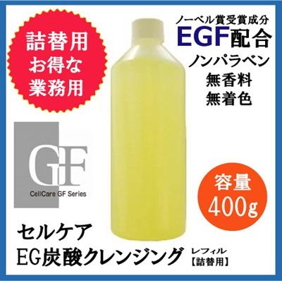 セルケア EG 炭酸洗顔クレンジング レフィル 400g 業務用【詰替用】の画像