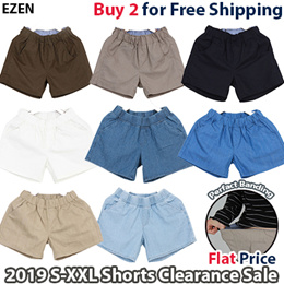 [EZEN][Free shipping over 2Buy] 2019 Women Casual Shorts Clearance Sale / Perfact Banding Pants / Plus Size / S~2XL / 5Type 7Color