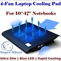 laptops 14-15.6 inch laptop fan notebook cooler Laptop Cooling Rack Computer Fan Base Plate Pad heatsink base/4-Fan Rapid Cooling / Temperature Drop Fast /Blue LED Light Ultra Slim Silent Radiator