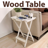 ★Wood Folding Table★end table/ furniture/ sofa table/ snack table/ book tray/ night stand/ wood table / 4 color / Sofa Accent Table / Modern colorful Side End Table / Contemporary