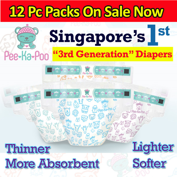 Pee-Ka-Poo Diapers | Cashmere Soft Breathable with Fun Animal prints | Shipping Via Local Courier Deals for only S$20 instead of S$0