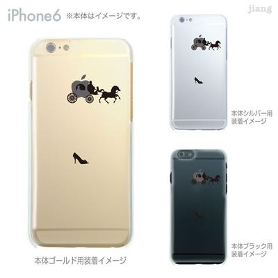 iPhone6 4.7 inch iphone ハードケース Clear Arts ケース カバー スマホケース クリアケース かわいい おしゃれ 着せ替え イラスト シンデレラ 08-ip6-ca0060の画像