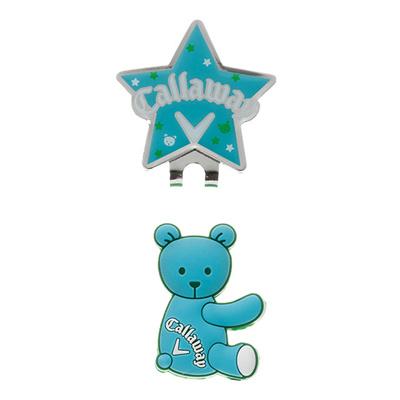 キャロウェイ (Callaway) Bear Marker 15JM(ベアーマーカー)サックス 5915136 [分類:ゴルフ マーカー]の画像