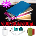 Hot sale★Newest super slim powerbank★Mobile Power Bank 150000mah 80000mah portable charger Extenal Battey phone charger Bakup POWERBANK For samsung S6/S6 Edge Note3/4 xiaomi iphone6/6 plus Sony LG